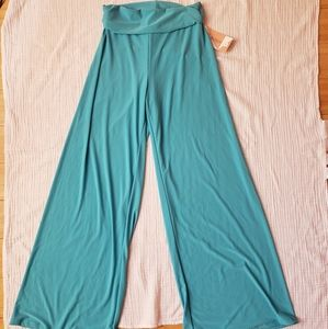Honey and Lace Boutique gaucho wide leg pants teal